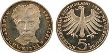 Allemagne, 5 mark, 1975, centenaire d'Albert Schweitzer, argent, PROOF - 41