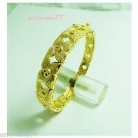 22K 23K 24K Thai Baht Yellow Gold GP Girl Jewelry Bangle Bracelet