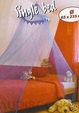 MOUSTIQUAIRE DECORATION CHAMBRE  CIEL DE LIT 1 PLACE 65X235CM NEUF