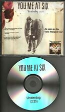 YOU ME AT SIX Underdog 2010 TST PRESS PROMO Radio DJ CD single USA