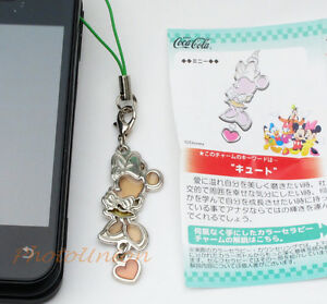 Coca Cola Disney Phone Strap Decoration Charm Keychain Decor Minnie Mouse A173