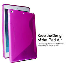 Apple iPad Air Case / iPad 5 TPU Case Compatible Back S-Sharp Cover - Hot Pink