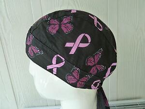 100% cotton Biker Durag/Helmet liner. (butterfly) Bandana-Head Wrap Head Wear