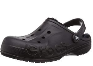 Crocs Men's Baya Lined Clog (Black, 12)