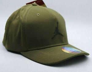 NIKE AIR JORDAN JUMPMAN 99 FLEX WOVEN BASEBALL HAT CAP - OLIVE 897559-395 - S/M