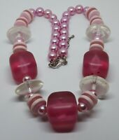 Lovely Pink Vintage Chunky Lucite Necklace