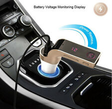 G7 Bluetooth Car Kit Handsfree FM Transmitter Radio MP3 Player USB Charger