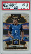 2017 Panini Select Unlimited Potential Silver Prizm #UP-10 Kylian Mbappe PSA 10