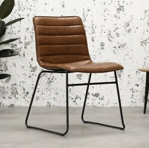 New Industrial Tan Leather Chair