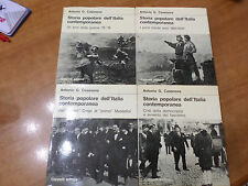Antonio Casanova STORIA POPOLARE DELL'ITALIA CONTEMPORANEA 4 volumi Cappelli