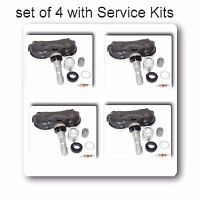 4 x TPMS Tire Pressure Monitoring Sensor with Service Kit Fits ACURA CSX & HONDA