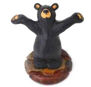 Bearfoots Bears Happy Bear Figurine By Jeff Fleming Big Sky Carvers