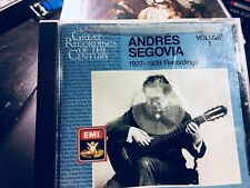 CD   ANDRES SEGOVIA ( 1927-1939 Recording)  Great Recording of the Century