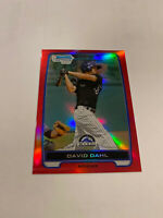 2012 BOWMAN 1st CHROME RED REFRACTOR ROOKIE DAVID DAHL RC /5