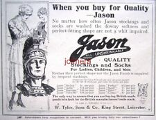 Small 1919 JASON All-Wool Stockings & Socks Clothing AD - Original Print Advert