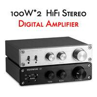 Mini 100W*2 Bluetooth 5.0 Digital Power Amplifier Stereo Audio Integtared Amp