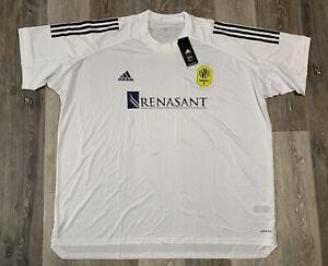 Nashville SC MLS Adidas Training Soccer Jersey White Mens Size 3XL GJ6078