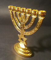 Small  Menora 7 Branch With Magen David Jerusalem Menorah  From Holy Land