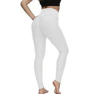 Women Yoga Pants Anti-Cellulite Leggings High Waist Sport Gym Honeycomb Trousers