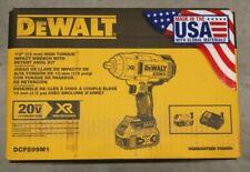 """DEWALT DCF899M1 20V Max XR Li-Ion 1/2"""" Llave de impacto con retén Pin Anvil!!!! nuevo!!!"""