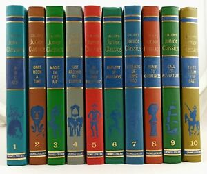 Complete Set 10 Books COLLIER'S JUNIOR CLASSICS. Hard Back 1962. COLLECTABLE