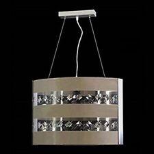 Lampadario Moderno In Cristallo E Plexiglass Colorato 3LUCI Design Camera Salone