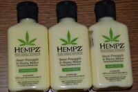 3 PACK HEMPZ SWEET PINEAPPLE  & HONEY MELON MOISTURIZER LOTION 2.25 OZ-3X