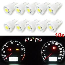 10X Pure White T10 Wedge 5050 SMD LED Gauge Cluster Light Instrument Panel Bulbs