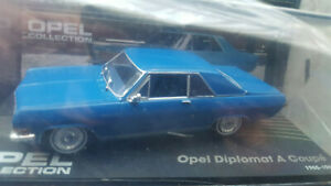 OPEL DIPLOMAT A COUPE  BLAU 1:43    OPEL COLLECTION NR 51