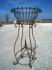 "40"" Rustic Wrought Iron w/ Finial Plant Stand Metal Planters Garden Plant Stand"