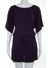 TWELFTH STREET BY CYNTHIA VINCENT Purple Silk Cotton Knit Sweater Dress Sz S