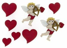 Jesse James - Dress It Up Buttons  Cupids Arrow 7704 Valentines Day Cupid Hearts