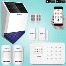 KERUI G18 GSM SMS Wireless Home Burglar Security Alarm System Solar Power Siren