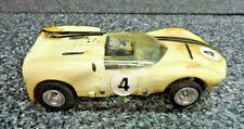 Rannalli Chapparal Flex Body Slot Car 1/24th Scale w Chrome Chassis 1960's