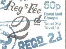 Gb Qe 1993 Folded 50p Booklet, Postal History Series No.3 - Fb66