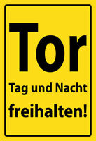 Tor Tag und Nacht freihalten ! Blechschild Schild gewölbt Tin Sign 20 x 30 cm