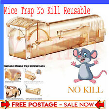 More details for mouse mice rat cage trap large no kill reusable no building no poison humane new