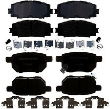 Front & Rear Ceramic Brake Pad Sets Kit ACDelco For Toyota Yaris Base L LE 16-17