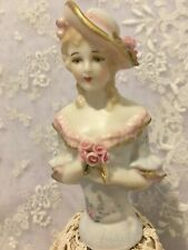 """Reproduction Porcelain Half Doll """"Yvette"""" approx 9.5 cms tall"""