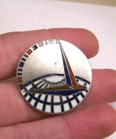 WW2 MILITARY AIR TRANSPORT COMMAND LEVELLE & CO STERLING ENAMEL PIN INSIGNIA