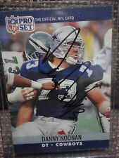 Danny Noonan Autographed Card Nebraska Huskers 86 All-American Dallas Cowboys