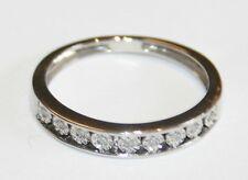 Tradizionale 9ct Oro Bianco Diamante Eternity L 1/2 ** AFFARE **