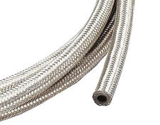 """2m of 6mm (1/4"""") Fuel Hose  Stainless Steel Braided 6 mm Length SAE30R6/R7"""