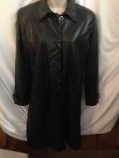 FU DA New York Alligator Style Wind/Trench Rain Coat SZ S
