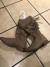 Size 4 girls boots/children's boots dark brown new never used