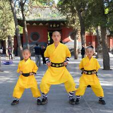 Full Set Kids Adults Shaolin Monk Tai chi Uniforms Kung fu Martial Arts Clothes