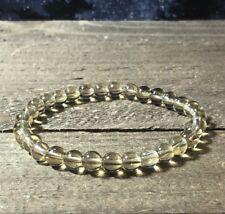 BEAUTIFUL RARE GOLDEN AZEZTULITE NATURAL CRYSTAL High vibe GOLD Quartz BRACELET