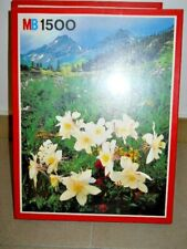 PUZZLE MASTER MARCA BRAND: MB 1500 PEZZI/PIECE FIORI MONTAGNA MOUNTAIN FLOWERS