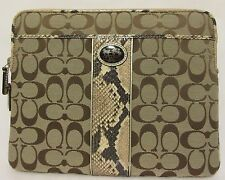 COACH Light Brown Classic Signature Touch Pad Ipad Sleeve Tablet Cover Case Snak