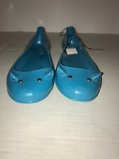 New Unbranded Mouseflats Turquoise rubber PVC rain shoes, 10